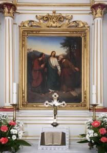 193 Obraz Chrystusa w drodze do Emaus w  kościele ewangelickim
