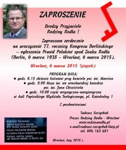 77 lat Prawd Polaków spod Znaku Rodła-6 marca 2015 we Wrocławiu