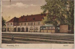 Dworzec kolejowy w Oleśnie po 1923 r.