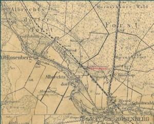 Mapa - Wojciechów - pocz. XX w.