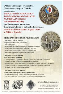 numizmatyka 2016 30 lat plakat v1