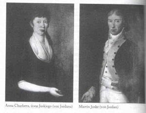 Anna Charlotta z domu von Jordan z mężem pastorem Martinem Juske lub Juschke (von Jordan)