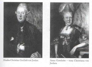 Christian Gotlieb von Jordan z żoną Anną Gotlieb