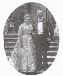 Feliks Bernard Erdmann II żoną Heleną Augustą Bertą von Sprenger podczas srebrnych godów na Śiwerczu