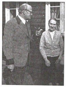 Hnas von Studnitz z żoną Norą z domu Brand -ostatni własciciele majątku na Śiwerczu zdjęcie z 1960 r.