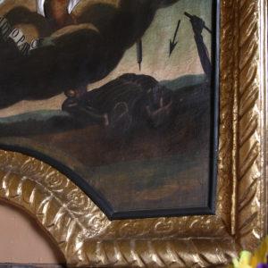 Alegoria oleskiej dżumy na obrazie w kościele św. Rocha w Grodzisku.