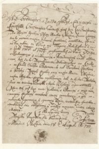 Dokument z 18.08.1711 r. o powstaniu kościoła wotywnego pw. św. Rocha w Grodzisku.