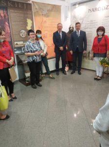 Przemówienie dyrektor muzeum Ewy Cichoń podczas otwarcia wystawy.