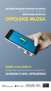 Plakat promujący aplikację O!POLSKIE MUZEA