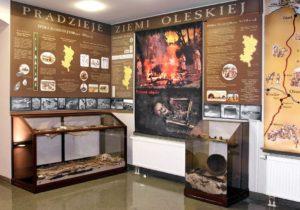 Zdjęcie ekspozycji archeologicznej na parterze muzeum
