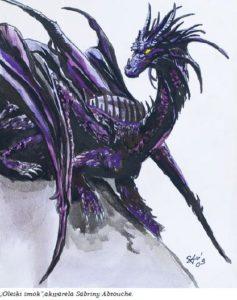 Rysunek  Sabriny Abtouche przedstawiający smoka