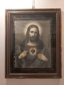 Oleodruk przedstawiający Najświętsze Serce Jezusa