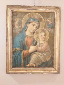 Oleodruk przedstawiający Matkę Boską z Dzieciątkiem