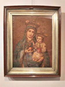 Oleodruk przedstawiający Matkę Boską Piekarską